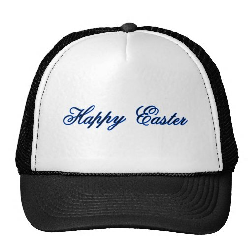 Happy Easter l Blue The MUSEUM Zazzle Gifts Trucker Hats