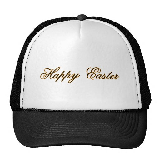 Happy Easter l Gold The MUSEUM Zazzle Gifts Mesh Hats