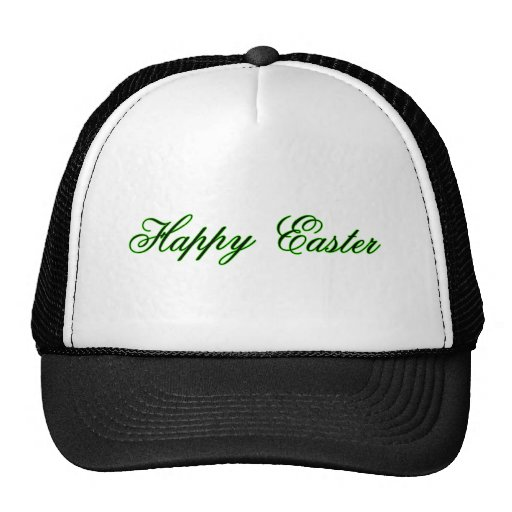 Happy Easter l Green The MUSEUM Zazzle Gifts Trucker Hat