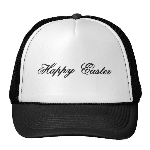 Happy Easter l Silver The MUSEUM Zazzle Gifts Trucker Hats