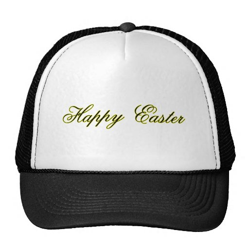 Happy Easter l Yellow The MUSEUM Zazzle Gifts Trucker Hats