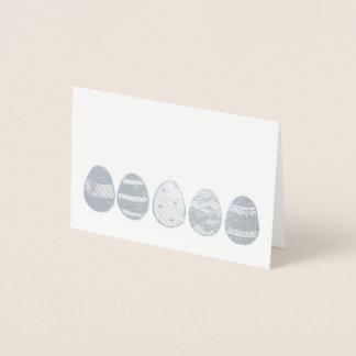 Happy Easter Metallic Egg Hunt Easter Basket Eggs Foil Card
