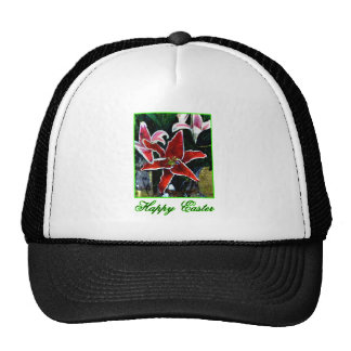 Happy Easter o Green Tiger Lily The MUSEUM Zazzle Hat