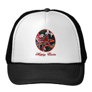 Happy Easter o Red Tiger Lily The MUSEUM Zazzle Gi Trucker Hat