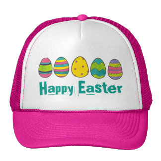 Happy Easter Painted Egg Hunt Eggs Hat