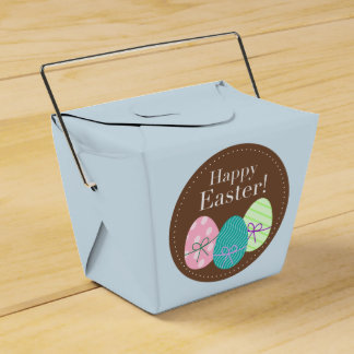 Happy Easter Party Favour Box With Eggs