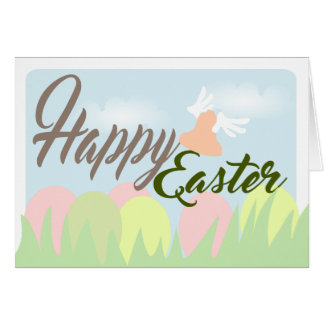 Happy Easter Pastel Colors greeting card