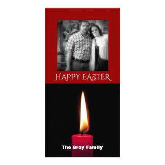 Happy Easter Photo | Candle Flame Personalised Photo Card