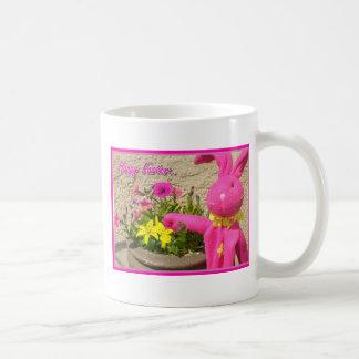 Happy Easter pink bunny mug