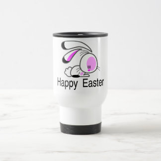 Happy Easter Pink Bunny Coffee Mugs