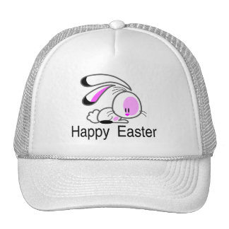 Happy Easter Pink Easter Bunny Mesh Hats