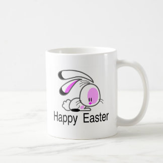 Happy Easter Pink Easter Bunny Mugs