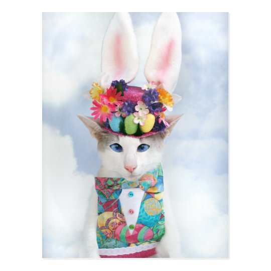 Happy Easter Postcard by Skeezix the Cat