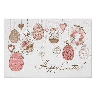 Happy Easter poster: Easter Eggs Poster