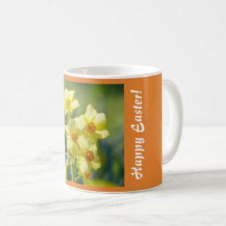 Happy Easter! Pretty Daffodils, Narcissus 03.1.2.T Coffee Mug