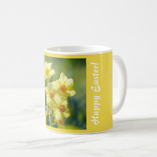 Happy Easter! Pretty Daffodils, Narcissus 03.1.T Coffee Mug