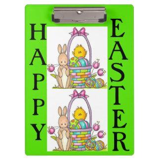 Happy Easter Rabbit Clip Board