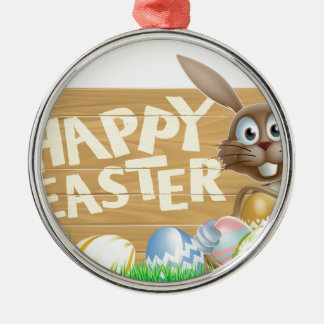 Happy Easter rabbit Christmas Tree Ornament