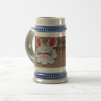 Happy Easter Rabbit STEIN CUP