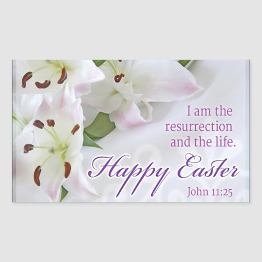 Happy Easter Rectangular Sticker