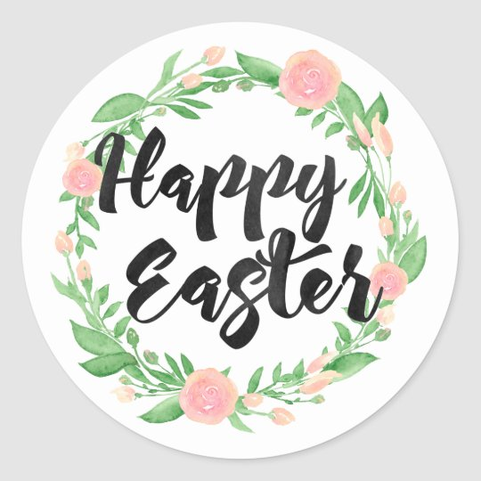 Happy Easter Round Sticker
