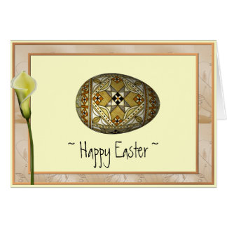 Happy Easter Russian Painted Egg Note Card