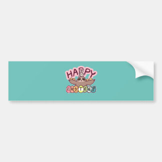 Happy Easter Sloth Bumper Sticker
