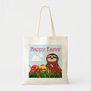Canvas Shopping Tote Bag Happy Easter Easter Eggs B Holidays and Occasions Easter Beach for Women