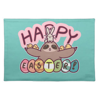 Happy Easter Sloth Placemat