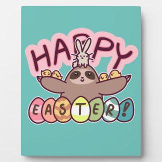 Happy Easter Sloth Plaque