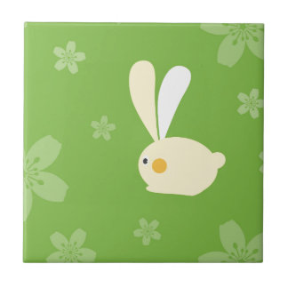 Happy Easter Small Square Tile