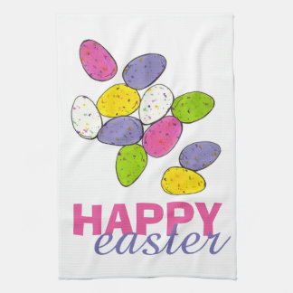 Happy Easter Speckled Candy Egg Eggs Towel