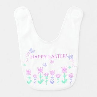 Happy Easter Spring Garden Baby Bib