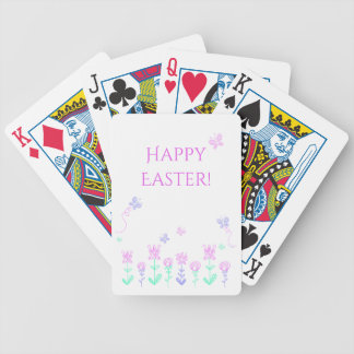 Happy Easter Spring Garden Playing Cards