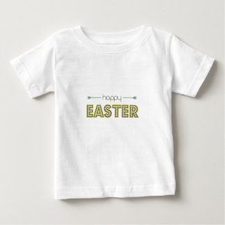 happy easter spring yellow mint green simple baby T-Shirt