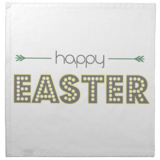 happy easter spring yellow mint green simple napkin