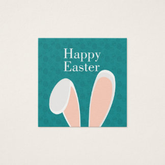 Happy Easter Square Business Card