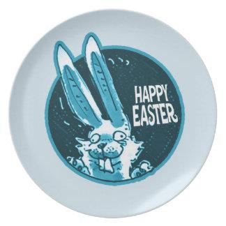 happy easter sweet bunny cartoon plates