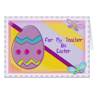 Happy Easter Teacher Card