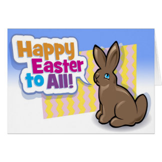 Happy Easter to All! Bunny Easter Card