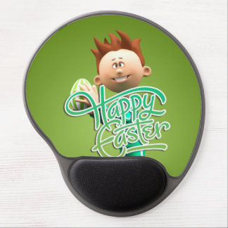 Happy Easter Toon Gel Mouse Pad