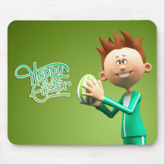 Happy Easter Toon Mouse Pad