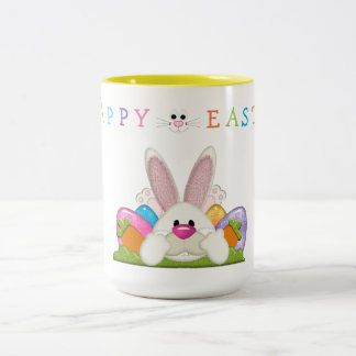 Happy Easter Two-Tone Coffee Mug