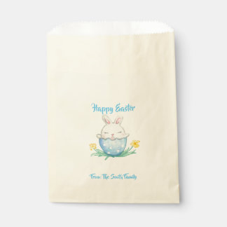Happy Easter // Watercolor Bunny Favour Bag