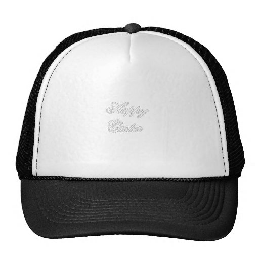 Happy Easter White The MUSEUM Zazzle Gifts Trucker Hats