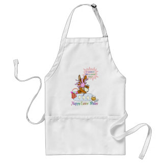 Happy Easter Wishes Adult Apron