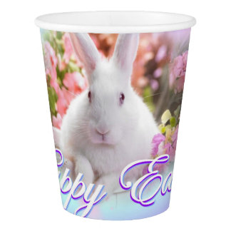 Happy Easter with Bunny Paper Cup