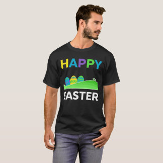 Happy Easter With Eggs And Crosses Holiday Tee