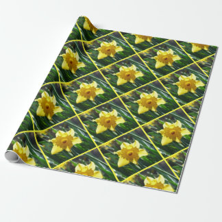 Happy Easter! Yellow Daffodil Wrapping Paper