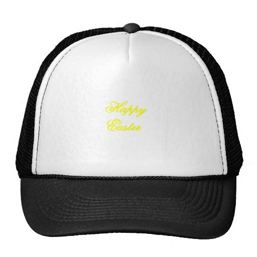 Happy Easter Yellow The MUSEUM Zazzle Gifts Hat